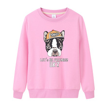 Spring Autumn  Dog Print Sweatshirt