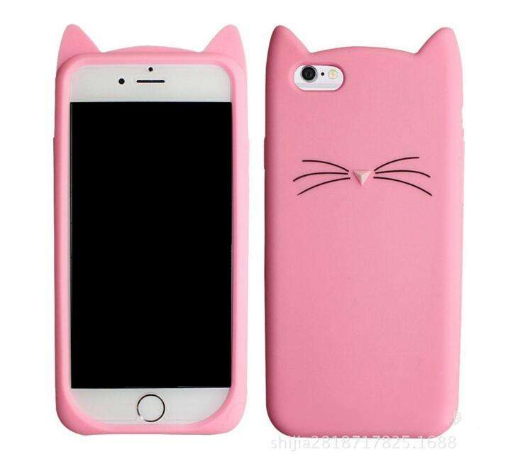 Funda de silicona 3D Cute Cat Beard para iPhone 7 Plus Adorable - Accesorios y repuestos para celulares - foto 3