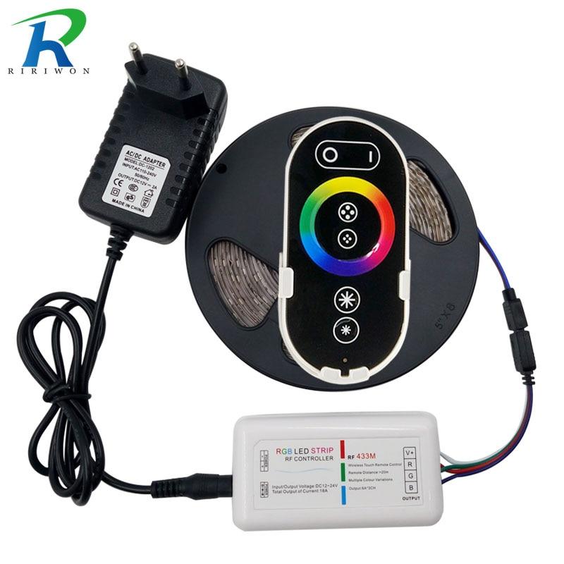 RiRi vant SMD RGB-lysdioder Strip lys 5050 5m 10m 15m 20m vanntett - LED-belysning