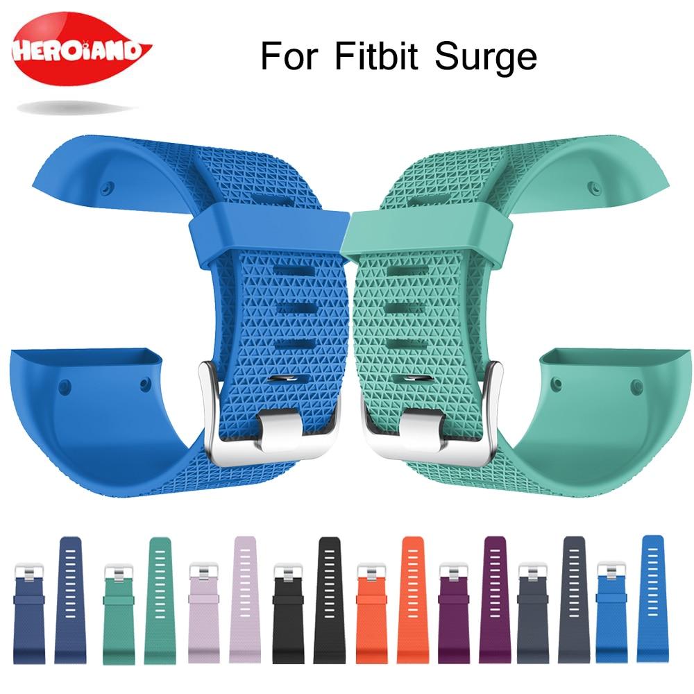 Remplacement TPE Poignet bande Montre Bracelet pour Fitbit Surge Bracelets De Montres Bracelet GPS Moniteur de Fréquence Cardiaque w/Outil Smart Superwatch