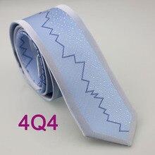 YIBEI coahella галстуки мужские обтягивающие галстук дизайн светло-голубой каймы порошок синие полосы пятна микрофибры галстук модный тонкий галстук
