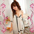 Mulheres sexy pijamas mulheres de viscose leitoso sexy camisola 2 peça set