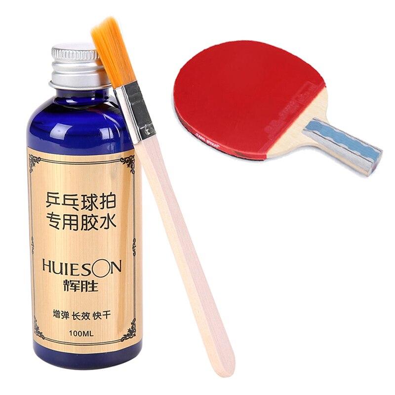 Liquide professionnel de vitesse de 100ml Super avec la colle spéciale de Tennis de Table de caoutchoucs de raquette de ping-pong de brosse pour des accessoires d'école