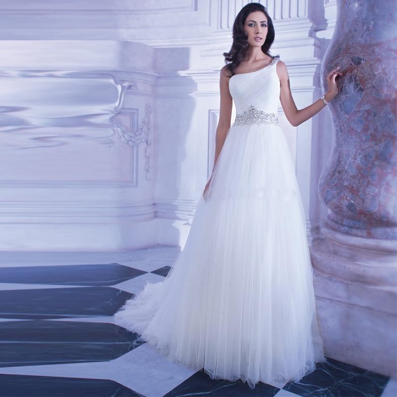 Sexy One Shoulder A Line Wedding Dress Vestido De Novia