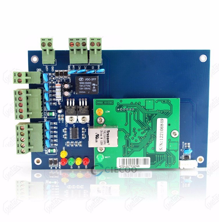 TCP/IP Door Access Controller Single Door access control Panel with RFID Card Reader door access control management software CE 1000pcs long range rfid plastic seal tag alien h3 used for waste bin management and gas jar management