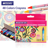 Marco 48 Colors Crayon Non Toxic Drawing Wax Oil Pastel Set For School Student Kids Color