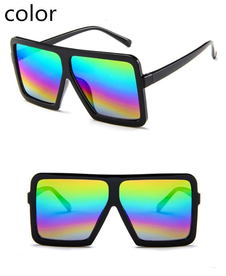 ASUOP2018 large frame new retro ladies sunglasses black radiation fashion men's glasses UV400 international luxury brand square goggles (10)