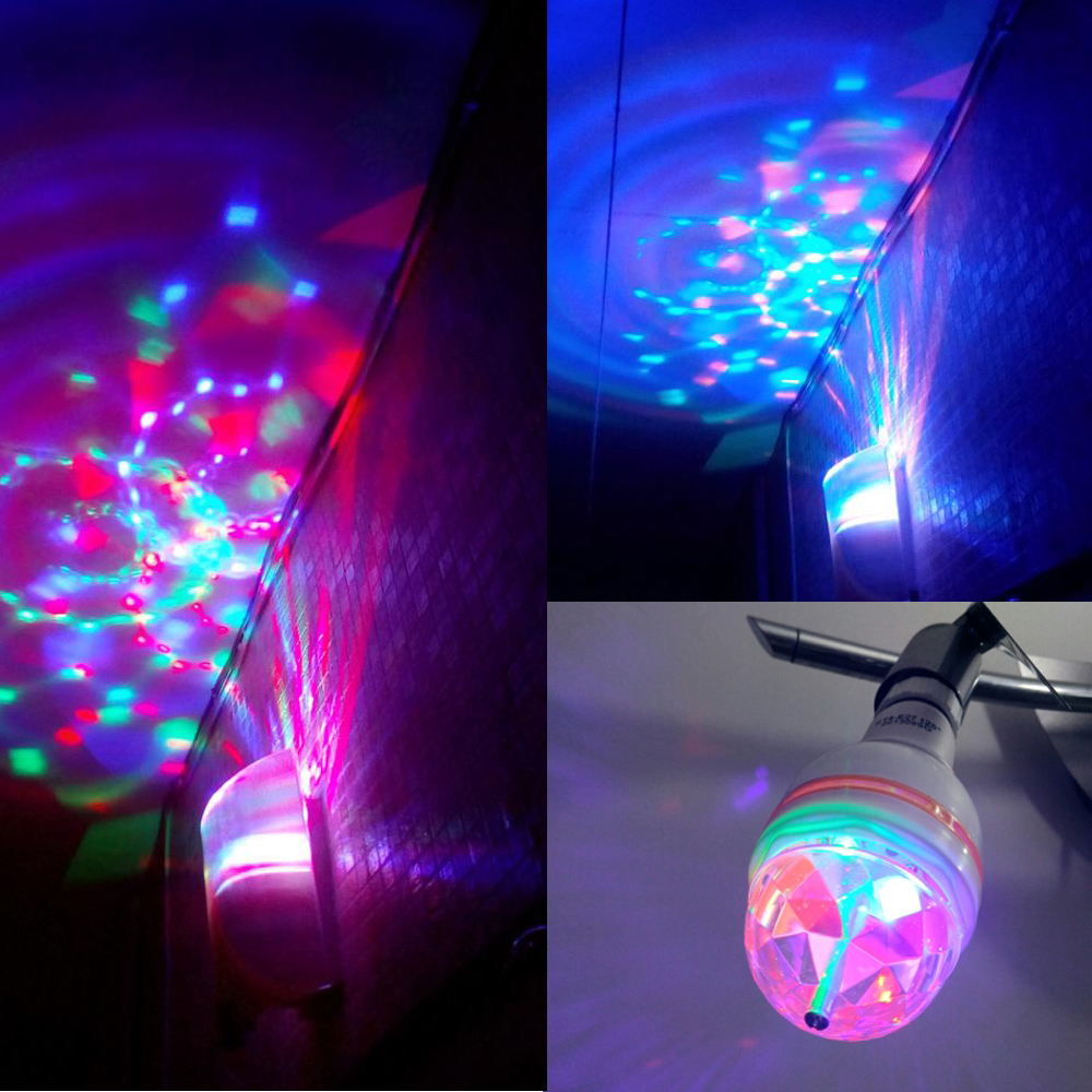 E27 6w rgb led light dance party led lamp auto rotating christmas e27 6w rgb led light dance party led lamp auto rotating christmas light e27 220v 110v colorful bulb dj disco stage lighting in led bulbs tubes from lights parisarafo Image collections