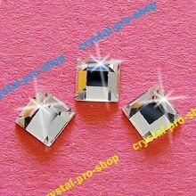 2400 подлинные элементы Сваровски 12 штук(4x4) мм кристально чистый(001) в форме квадрата головистой формы с помощью утюга не требующей горячей фиксации, горячая фиксация Стразы