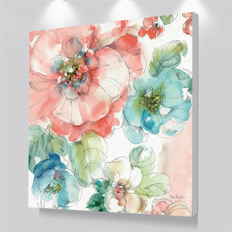Vente Décoration Abstraite Toile Aquarelle Fleur Wall Art ...