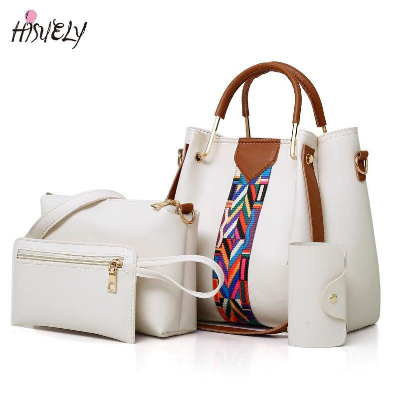 e6847ea0910f Набор композитный мешок новая мода высокого качества Сумки из искусственной  кожи сумка женские
