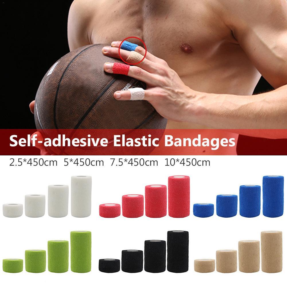 6 цветов спортивная защита эластичный бандаж нетканый материал самоклеящийся эластичный бандаж должен быть равномерным цветом разрез акку...