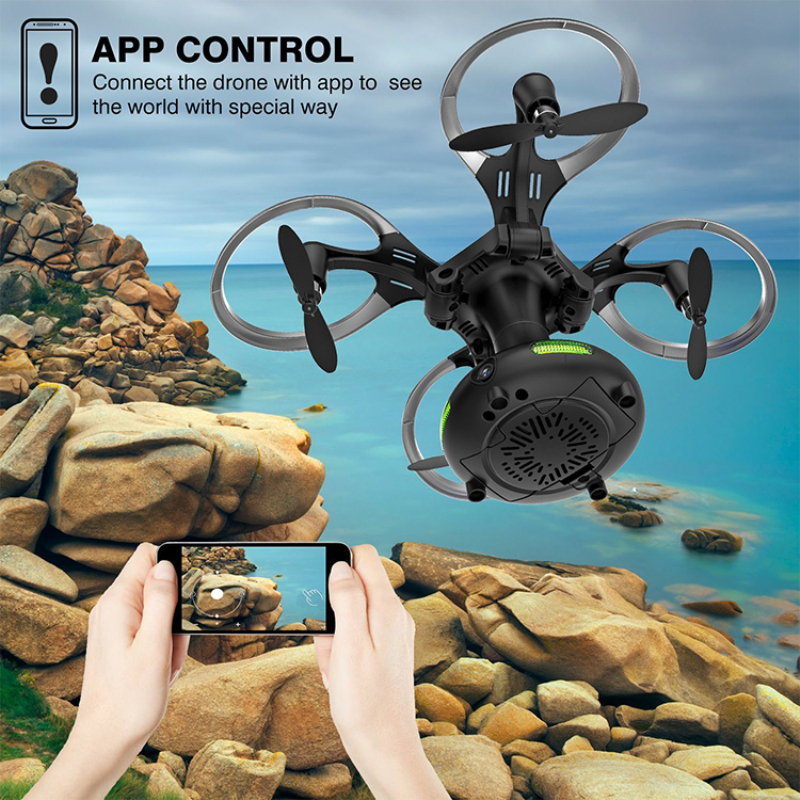 APP WIFI FPV control Egg Drone Toy 480P/720P camera ball Shaped Foldable 2.4GHz 6-Axis Gyro Quadcopter add storage box vs X56W