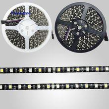 Black PCB 5M RGBW RGBWW RGB + (Warm/Koud/Wit) LED Strip 300 LEDs 60led/M SMD 5050 IP65 Waterdicht Gemengde Kleur DC12V