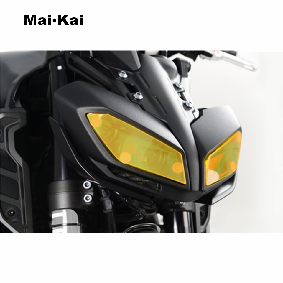 MAIKAI FOR YAMAHA MT 09 FZ 09 MT 09 FZ 09 2017 motorcycle Headlight Protector Cover Shield Screen Lens in Covers Ornamental Mouldings from Automobiles Motorcycles