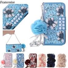 Różowy torba na telefon dla iPhone X piękne perły kwiat róży skórzana torebka etui flip wallet pełna skrzynki pokrywa dla iPhone 7 8 6 6 S Plus 5S SE