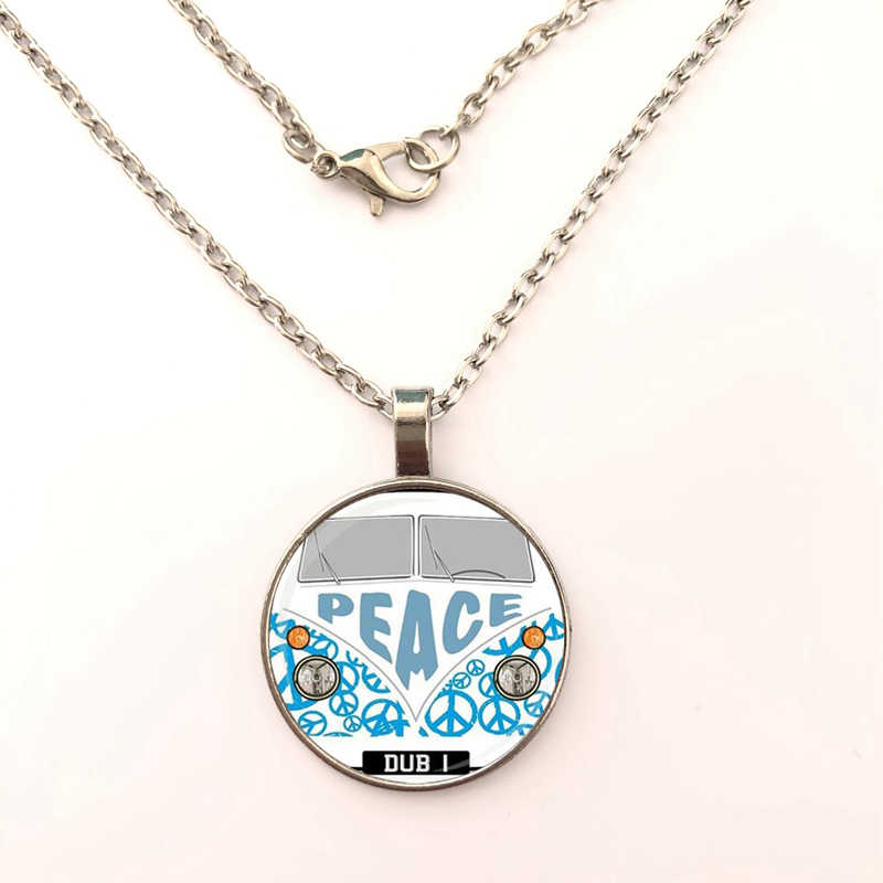 GDRGYB 2019 EJ Glaze Jewelry Fashion Statement Glass Pendant necklace For Women Kids Old London Montage Red Double Decker Bus
