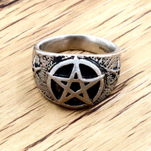 Wholesale High Quality Mens Punk 316L Stainless Steel Pentagram Star Rings for Men Biker Finger Rings Rock Jewelry US SIZE 9~12 wholesale high quality mens punk 316l stainless steel pentagram star rings for men biker finger rings rock jewelry us size 9 12