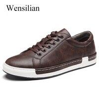 2019 Men Casual Shoes Flats Lace Up Gentlemans Shoes Comfortable Sneakers Brand Walking Shoes Plus Size 38 46 Schuhe Herren
