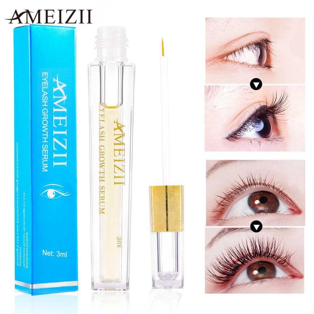 AMEIZII Eyelash Enhancer Eye Serum Longer Thicker Herbal Eyelash Growth Treatment Eye Lashes Lengthening Lifting Essence Oil