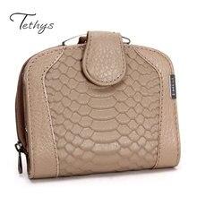 Tethys Short Wallet Women's Handbag Famous Brand Women Wallets New Fashion Designer Female Handbag Crocodile Bags Ladies
