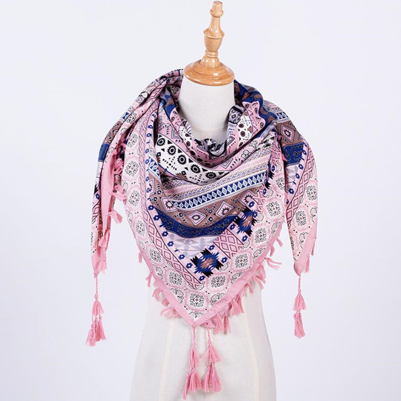 New Fashion Women   Scarf   Winter Square   Scarves     Wraps   Autumn Tassel Printed Girl Shawls Blanket Warm   Scarf