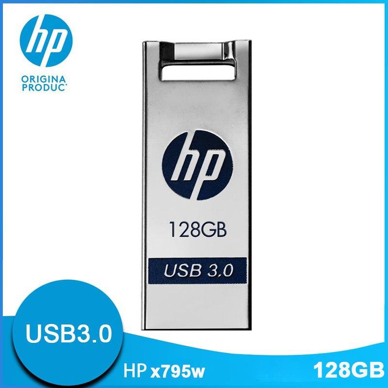 D'origine Hewlett Packard clé USB Drives 128 GB USB3.0 Métal Cle USB X795W livraison directe Mignon Mini Bande Dessinée Cadeau logo diy Clé USB