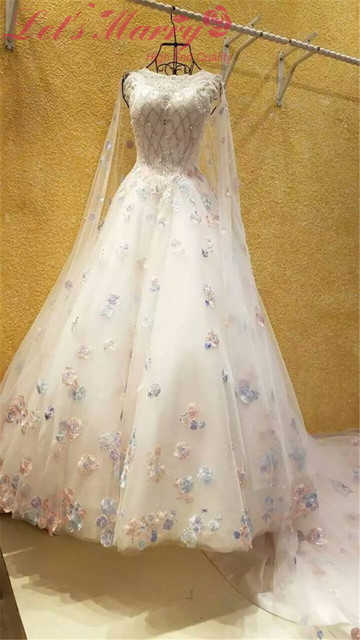 WDZ 351 New Style Long Noble Luxury Colorful Bridal Gowns Rainbow ...
