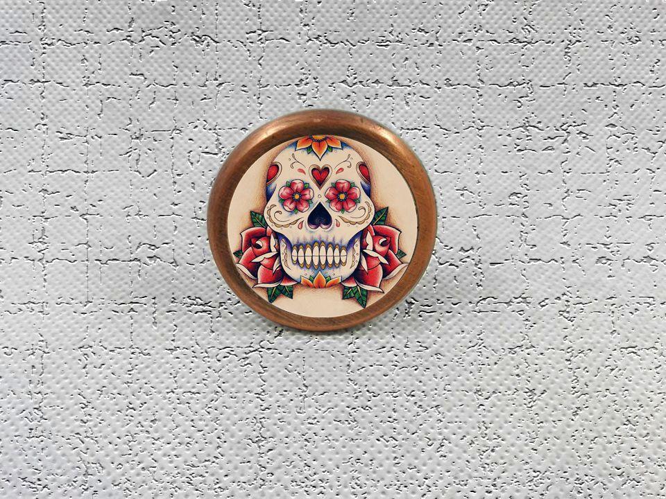 Rose Skull Head Knobs Drawer Dresser Knob DIY Cupboard Knob Vintage Chic Kitchen Cabinet Door Handle Furniture Hardware cool skull head car steering wheel aid handle assist knob