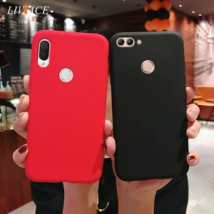 Image 4 - matte silicone phone case on for huawei P smart plus p20 p30 p8 p9 p10 lite 2017 2018 2019 candy color soft tpu back cover funda