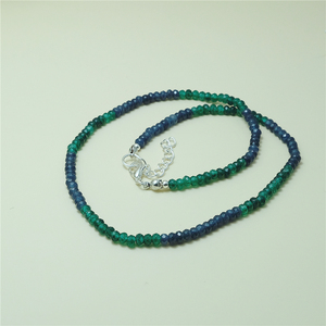 Image 5 - Vintage Classic Natural Stone Jewelry Delicate Sapphires Emeralds Multicolors Beaded Chain Choker Necklace