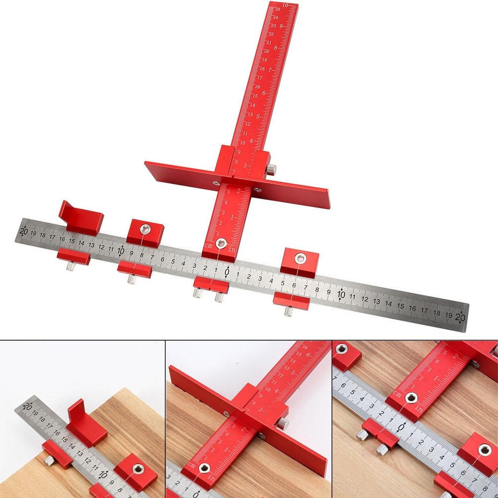 Ensemble d'outils de gabarit de perforation outil de guidage de perceuse amovible armoire tiroir outils de forage de bois goujons ALI88
