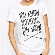 Woman T-Shirt O Neck Cotton tshirts Womens Tees T Shirts Women Jon Snow Print(China)
