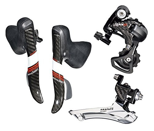 Microshift Carbon Arsis Dual Control Levers  2*11 Speed Road Bike Group Set for Shimano Dura-Ace 9000 Ultegra 6800 STI Shifters