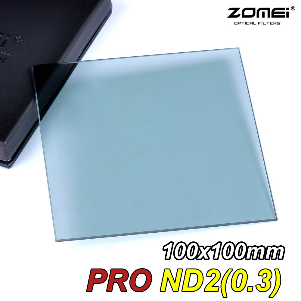Zomei 100mm Square Filter ND2 Optical Glass 100x100mm Neutral Density Grey ND Filter for Cokin Z-PRO Series Lee Hitech Singh-Ray selens pro 100x100mm 12nd square medium