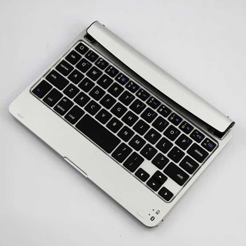 Ultra slim mini wireless bluetooth 3.0 keyboard case untuk ipad mini 1 2 3 4 berdiri case aluminium bahan abs