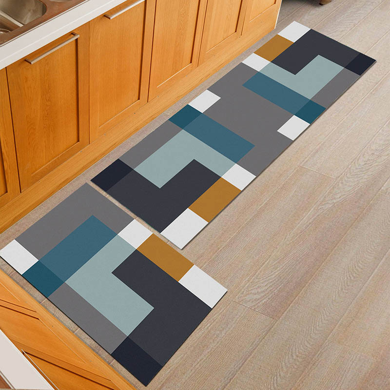 Water Absorbent Kitchen Mats with Anti Slip Bottom Suitable for Kitchen and Living Room Floor 3