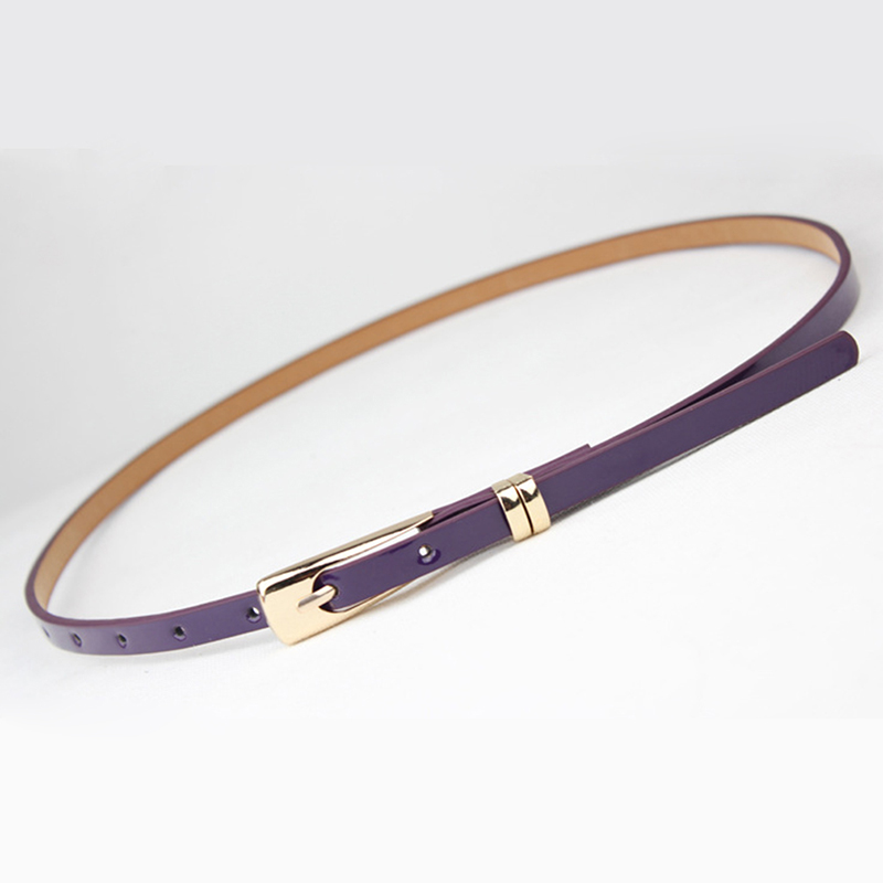 8 Colors Fashion Thin Pu Leather Belt Female Waist Belts For Women Dress Strap Accessories Decor Red Brown Black White Yellow