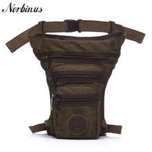Norbinus Мужская холщовая/Водонепроницаемая нейлоновая сумка для ног поясная сумка-мессенджер на плечо для верховой езды мужские мотоциклетные сумки