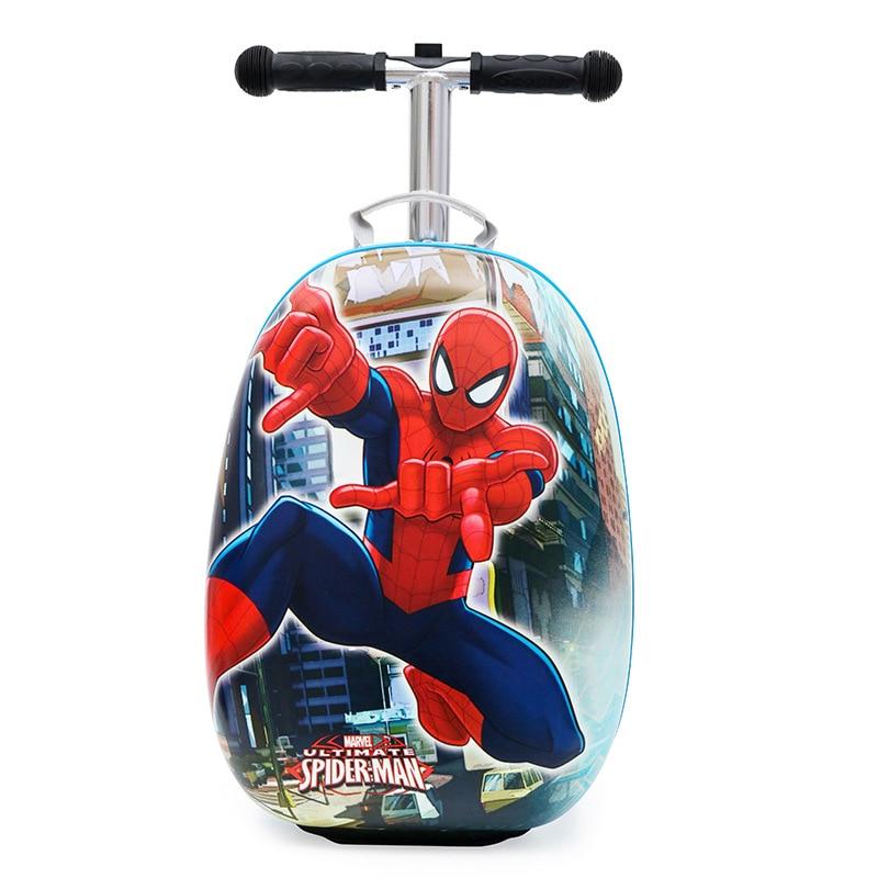 Новый милый детский маленький чемодан для скутера, сумка на колесиках, Детская сумка для переноски, дорожная сумка на колесиках, Детская подарочная коробка - 6
