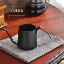 Edelstahl auslauf Lang Mund wasserkocher kaffeekanne halterung hand punch topf drip schwanenhals Wasserkocher mit griff Teekanne