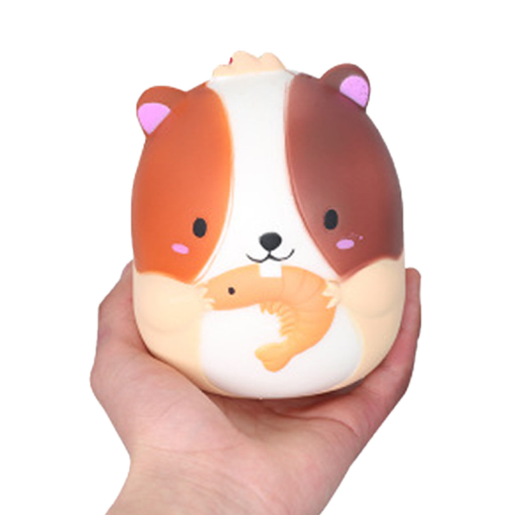 Kawaii Funny Stress Reliever Cute Hamster Scented Super Slow Rising Kids Squishy Toys Children Adults Anti-stress Toys W524