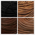 4mm thick Black Cowhide Leather Cord For DIY Craft Jewelry for Beading Necklace Ethnic