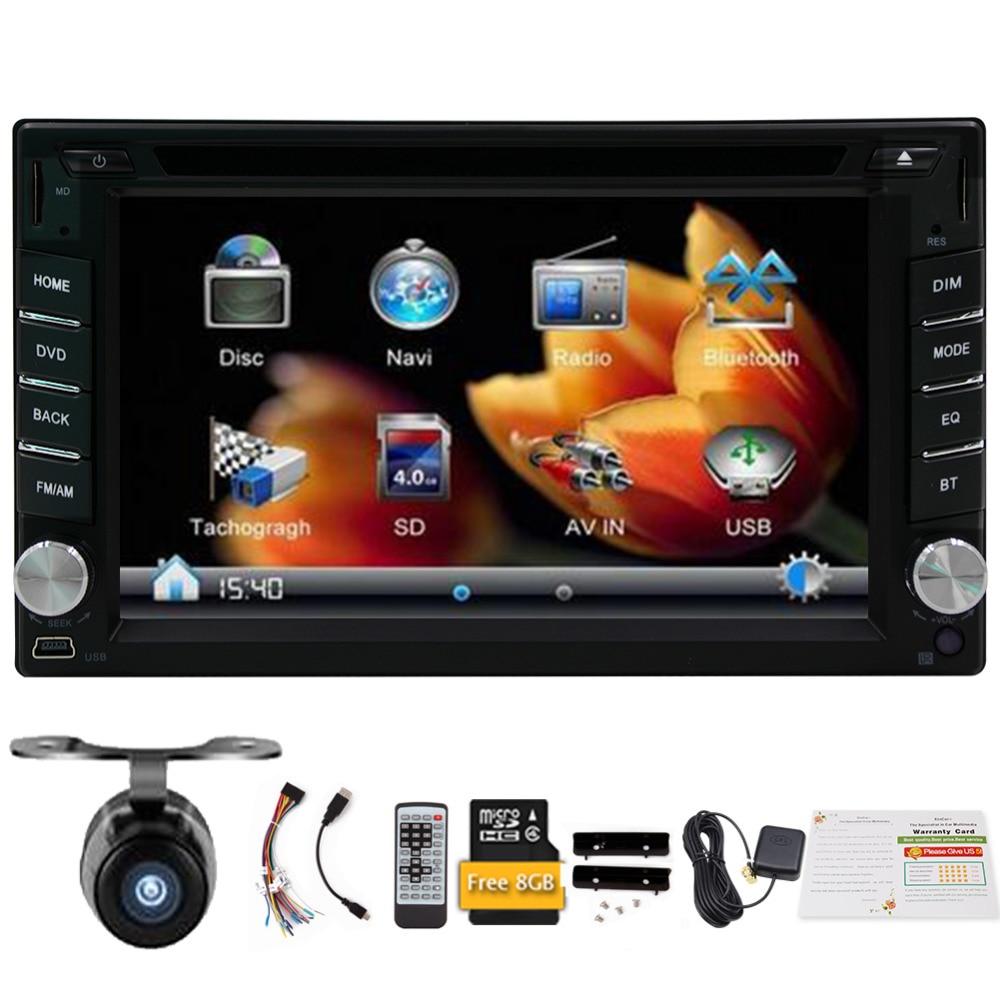 2018 New In Dash Car Dvd Player Gps Navigation Audio Stereo 8gb Automobile Interior Lights Fader Map Bluetooth Radio Fm Am Monitor Usb Sd Multimedia
