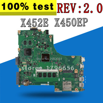 for ASUS X452E X450EP REV:2.0 integrated Laptop Motherboard fully tested & working perfect S-4