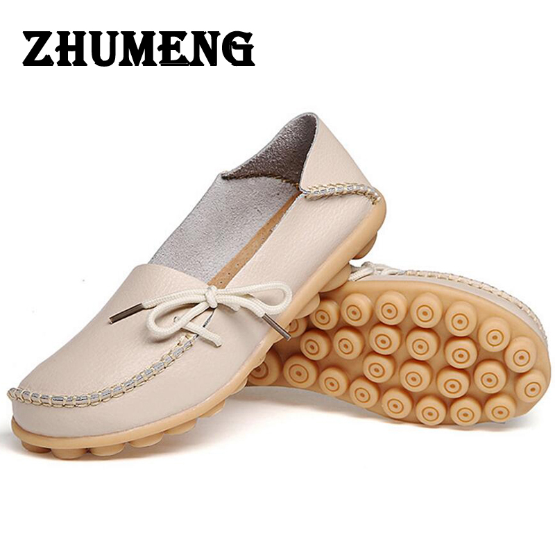 Spring Womens Casual Shoes Flats Oxford Shoes for Ladies Moccasins A Boat Oxfords Loafers Women's Moccasin Real Leather Size 11 beyarne rivets decoration brand shoes flats women spring autumn fashion womens flats boat shoes sexy ladies plus size 11