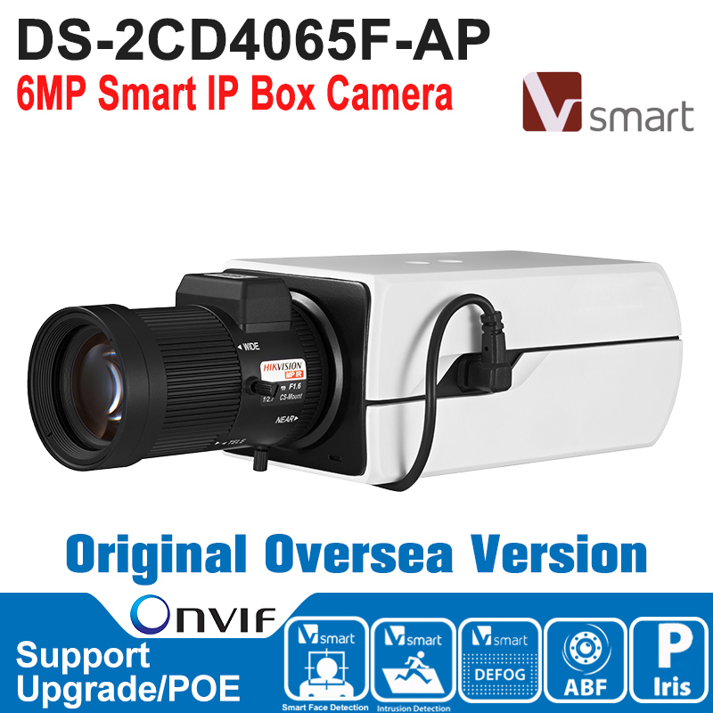 HIK IP Camera 6MP DS-2CD4065F-AP IP Camera POE 6MP Smart IP Box Camera IP Camera Built-in Micro SD/SDHC/SDXC Card H.264+ лобзик союз лбс 4065