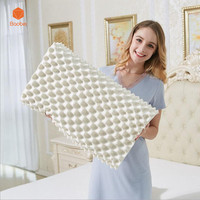100 Natural Latex Pillow Contour Neck Pillow For Adults Pillows Cervical Good Sleeping Almohada Soft Memory
