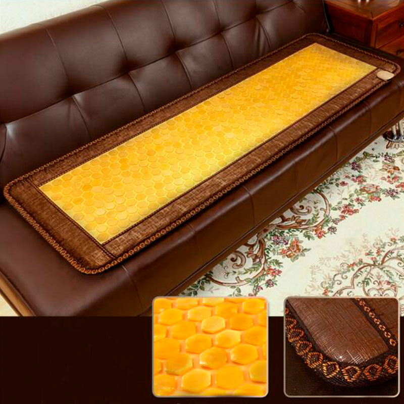 Luxury Jade Mat Electric Heating Massage Mat Health Care Mattress 50*150CM 2016 electric heating massage jade stone mattress korean mattress wholesaler 1 2x1 9m