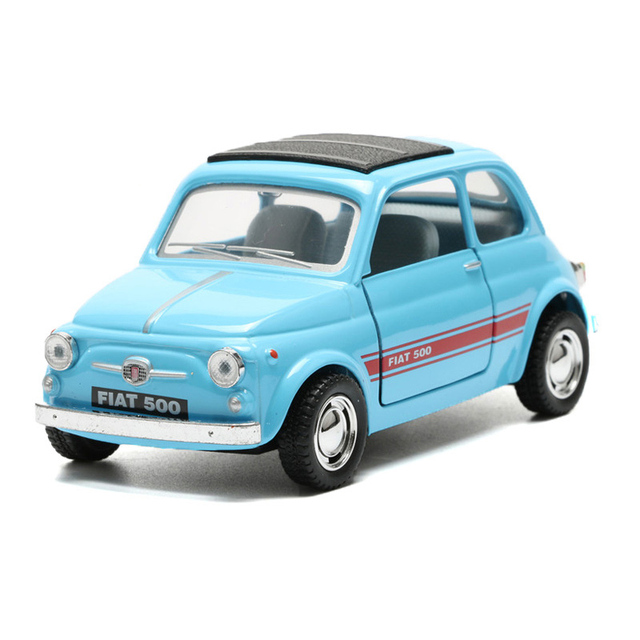 1 24 Classical Toy Car Alloy Fiat 500 Model Cars Doors Openable Toys